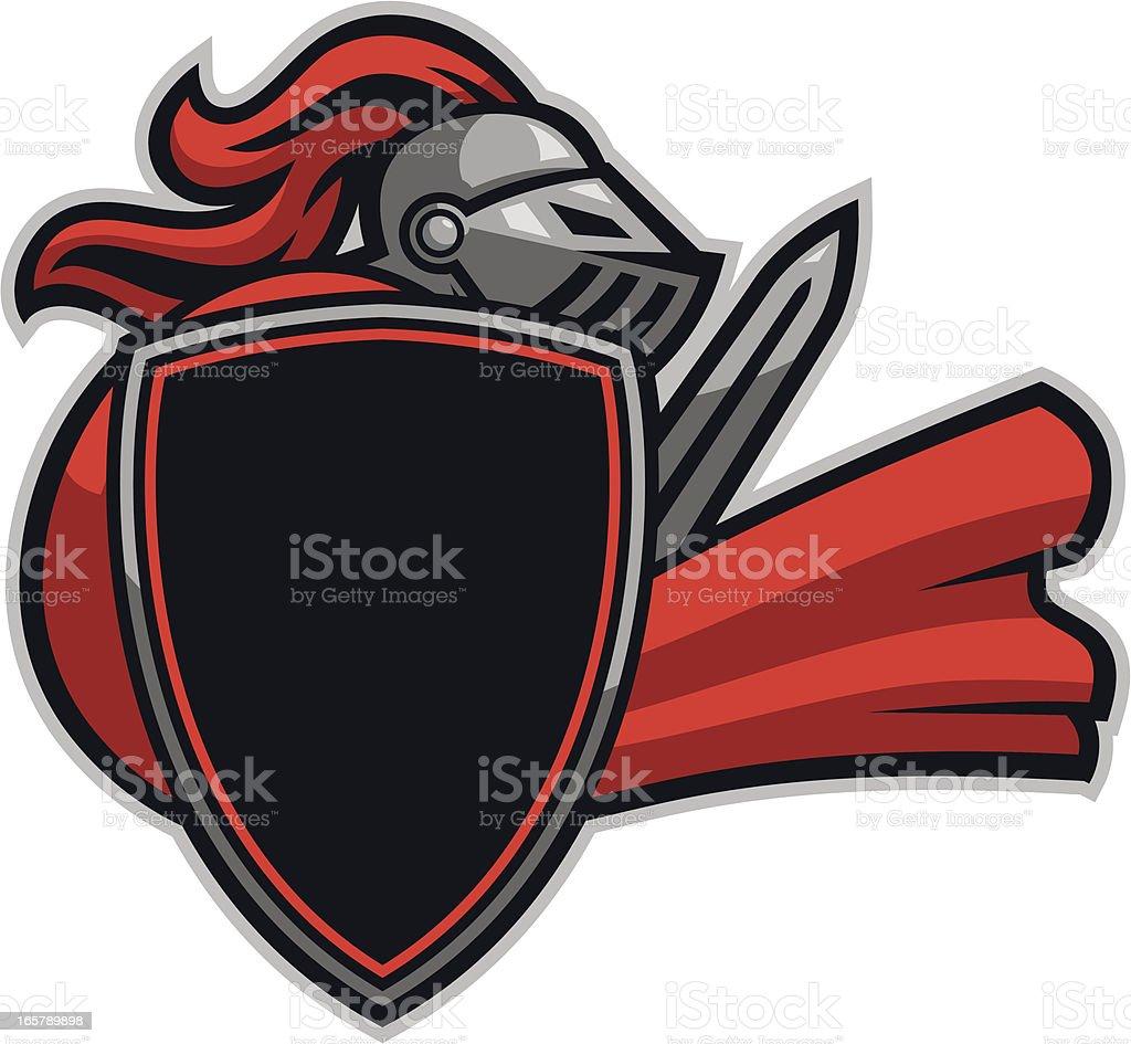 Knight Mascot Fight vector art illustration