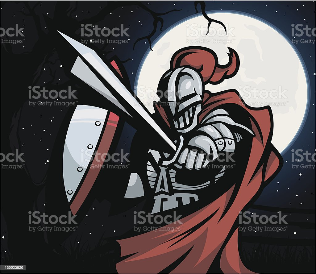 Knight of Night vector art illustration