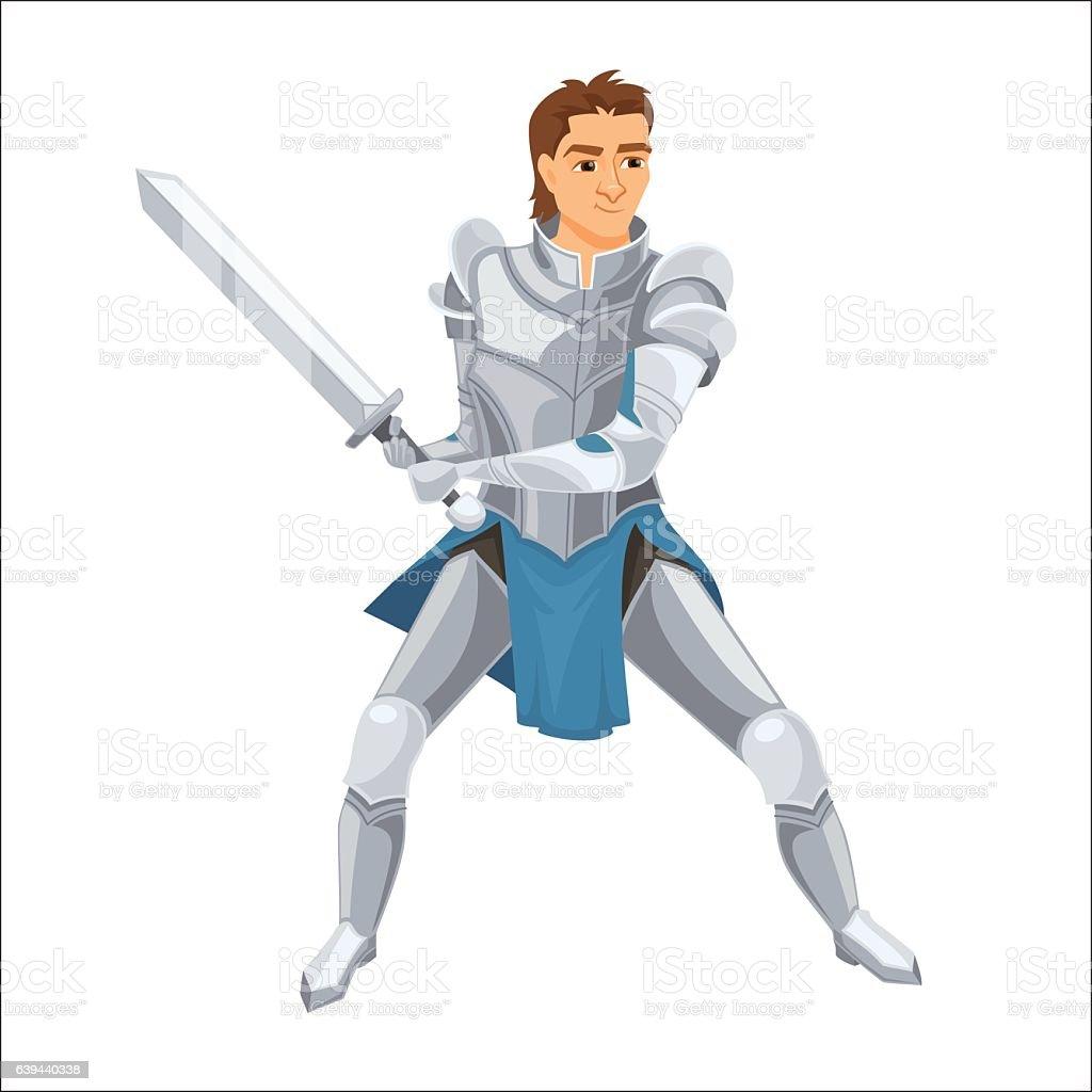Knight. Paladin with armor vector art illustration