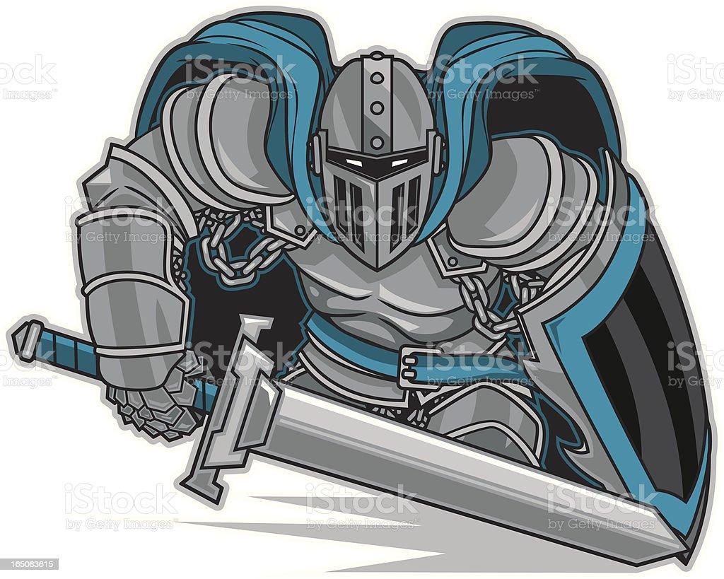Knight Stance vector art illustration