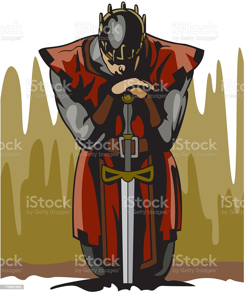 Knight vector art illustration