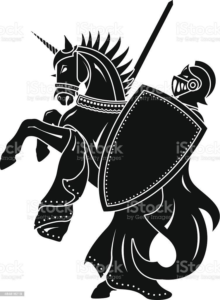 knight vector art illustration