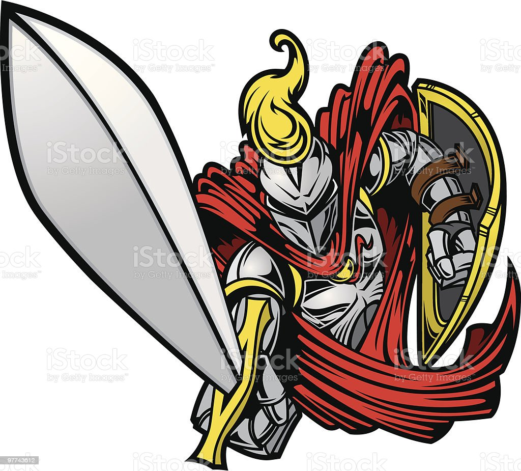 Knights Charge II vector art illustration