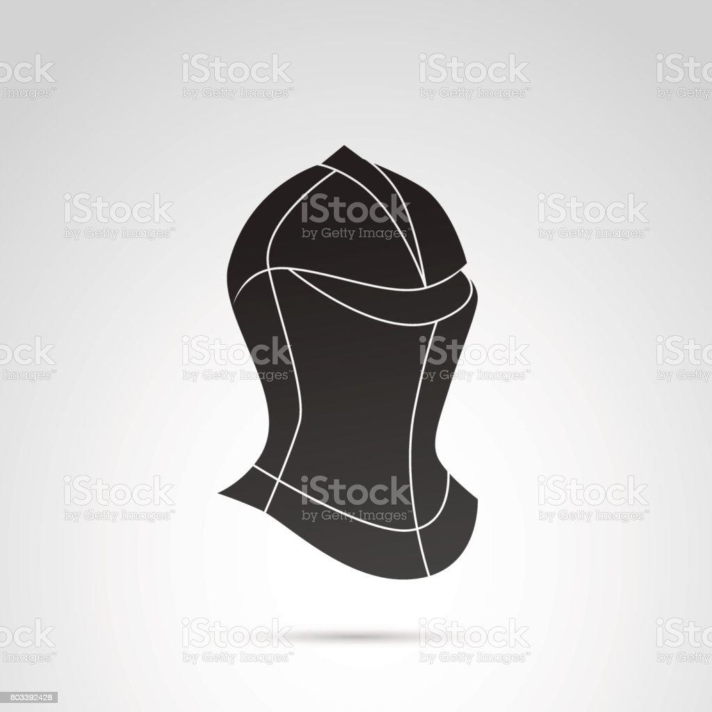 Knight's helmet vector icon. vector art illustration
