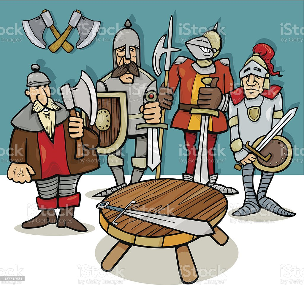 Knights Of The Round Table Cartoon Stock Vector Art  IStock - Round table clip art