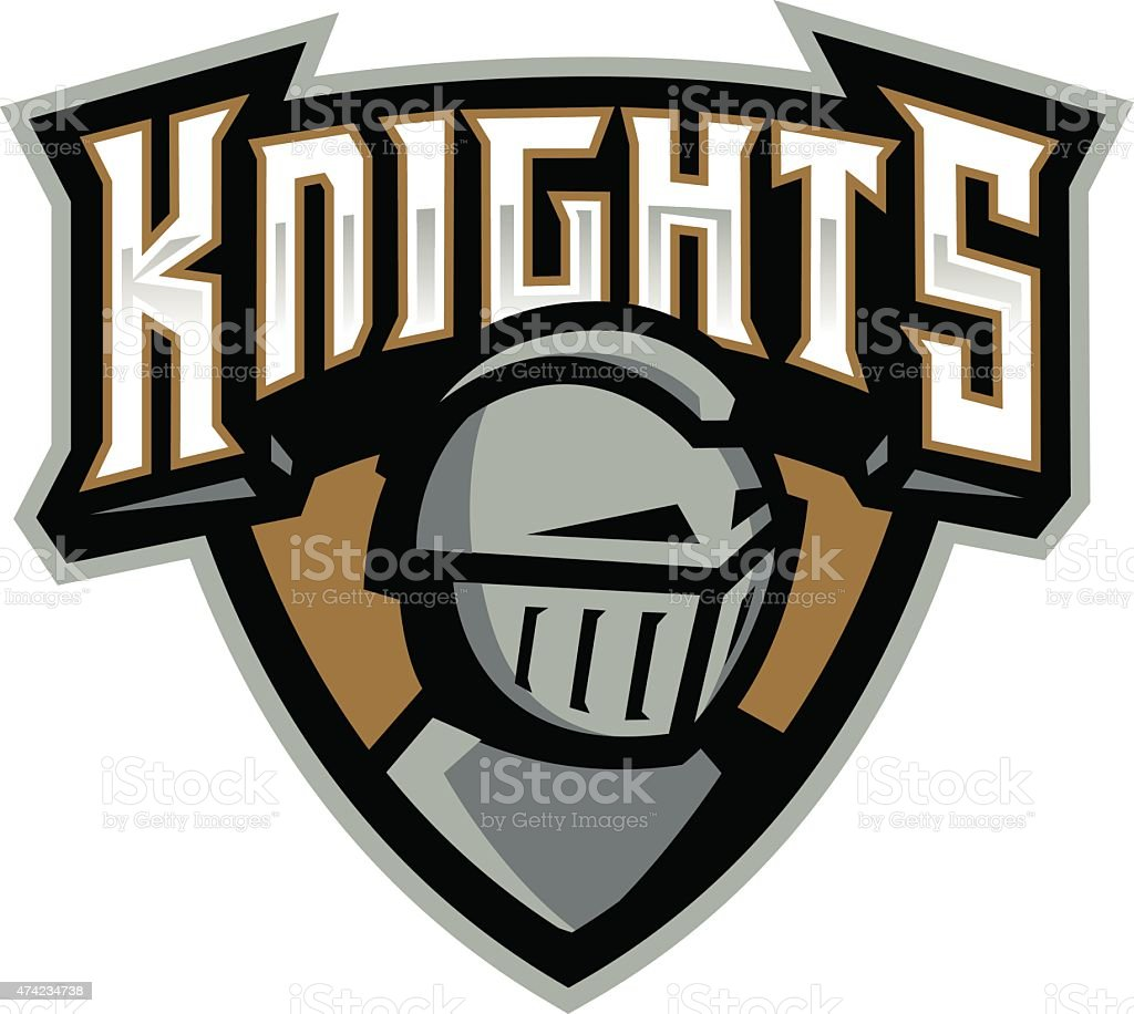 Knights Shield vector art illustration