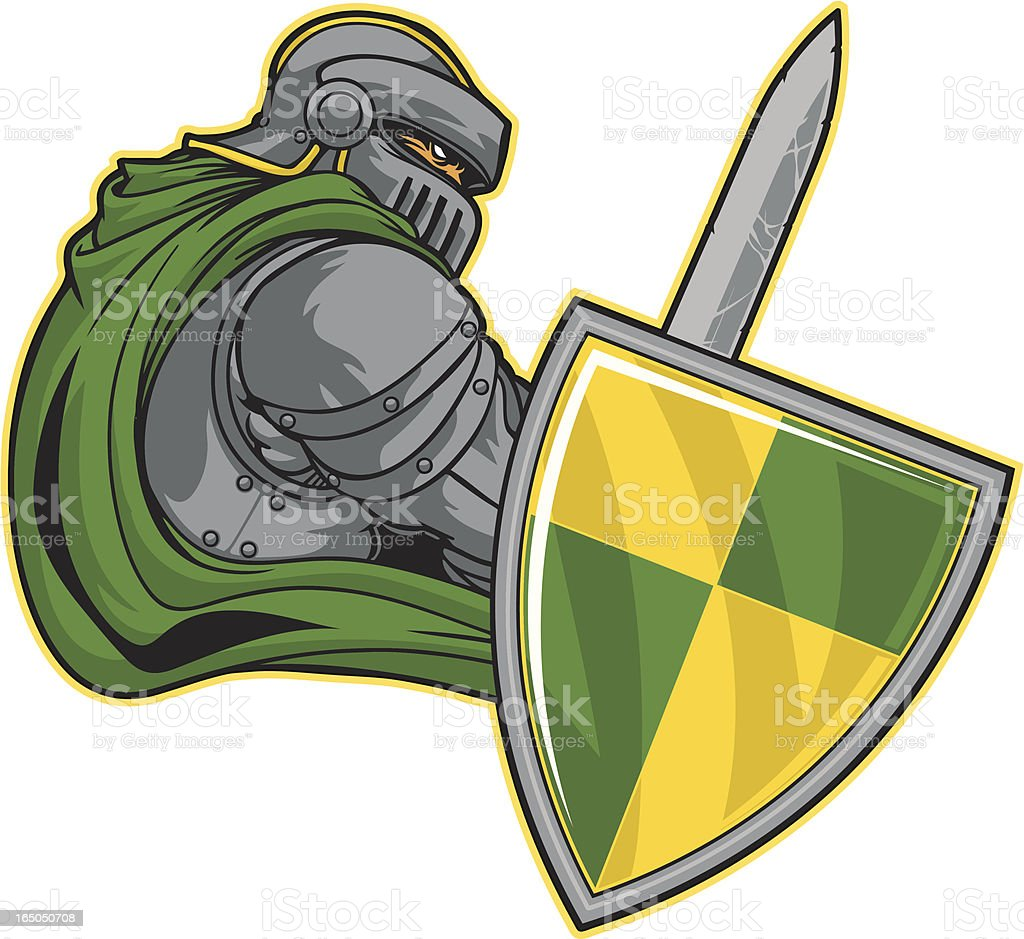 Knights Stance royalty-free stock vector art