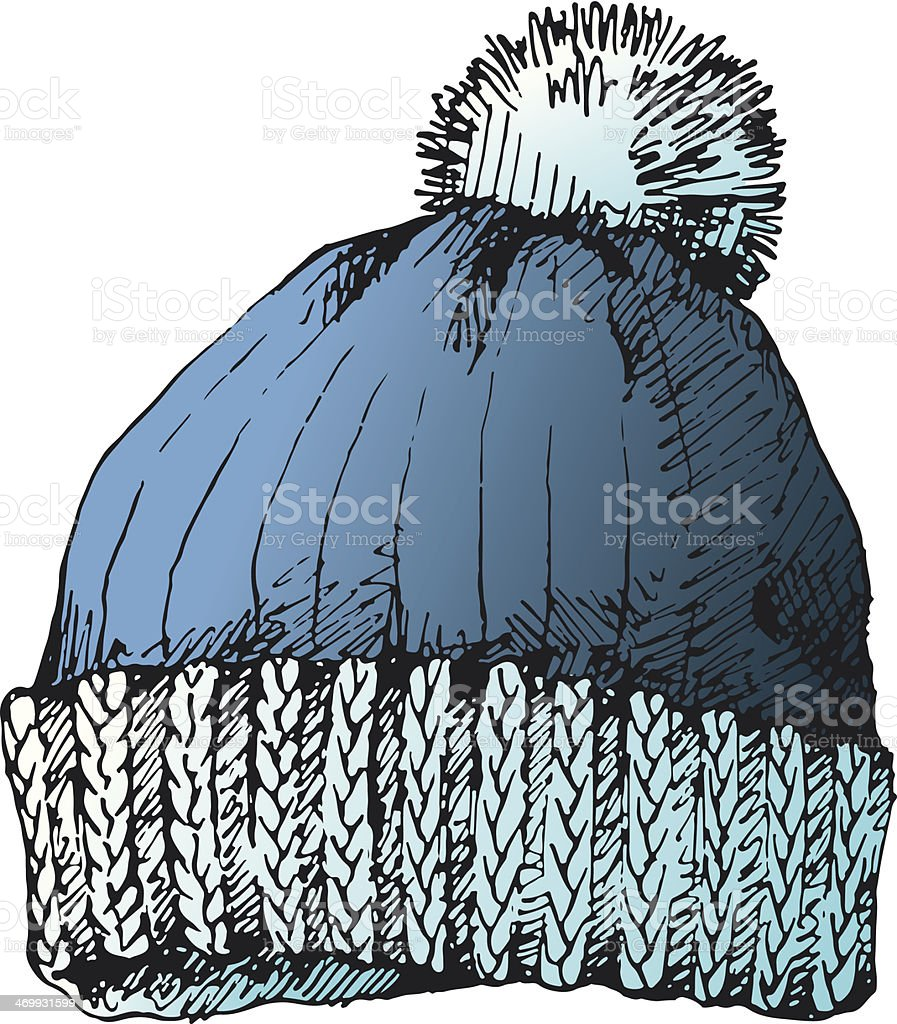 Knit Hat vector art illustration