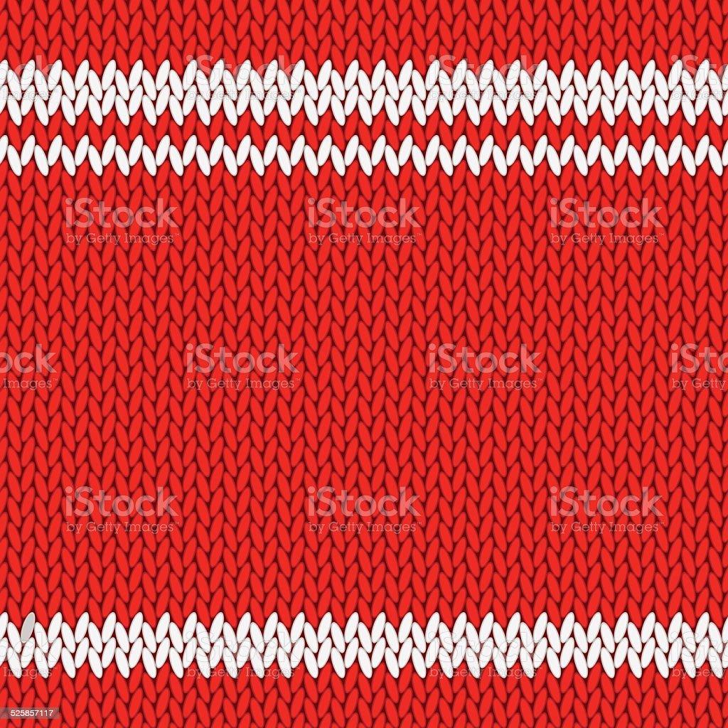 Knitted background vector art illustration
