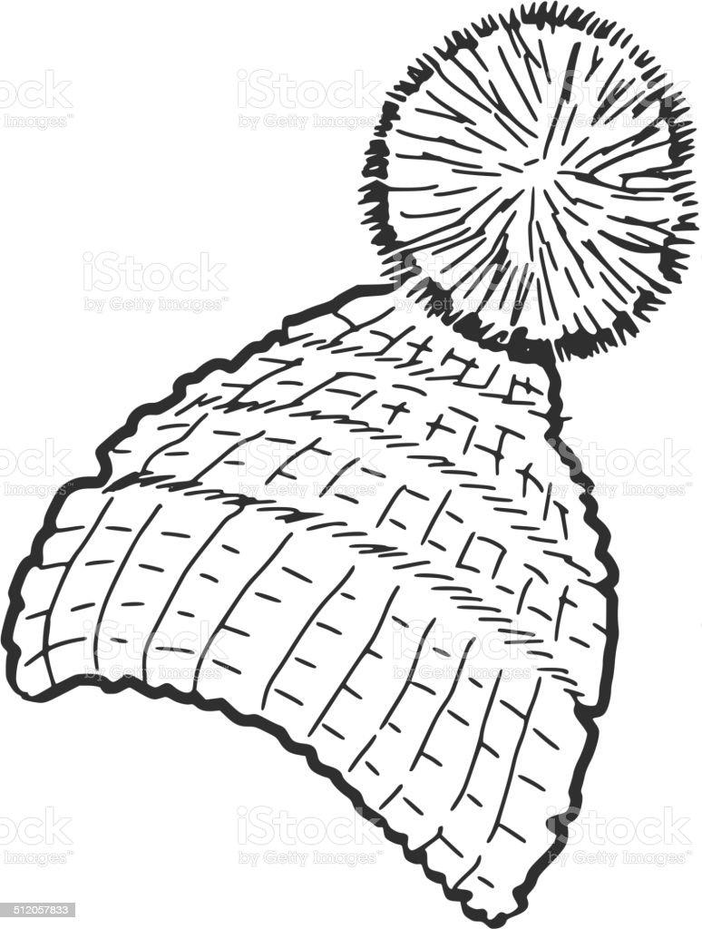 knitted cap vector art illustration
