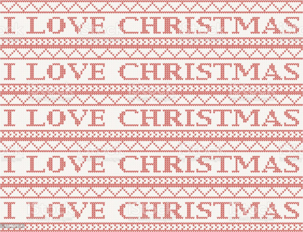 knitted christmas background royalty-free stock vector art