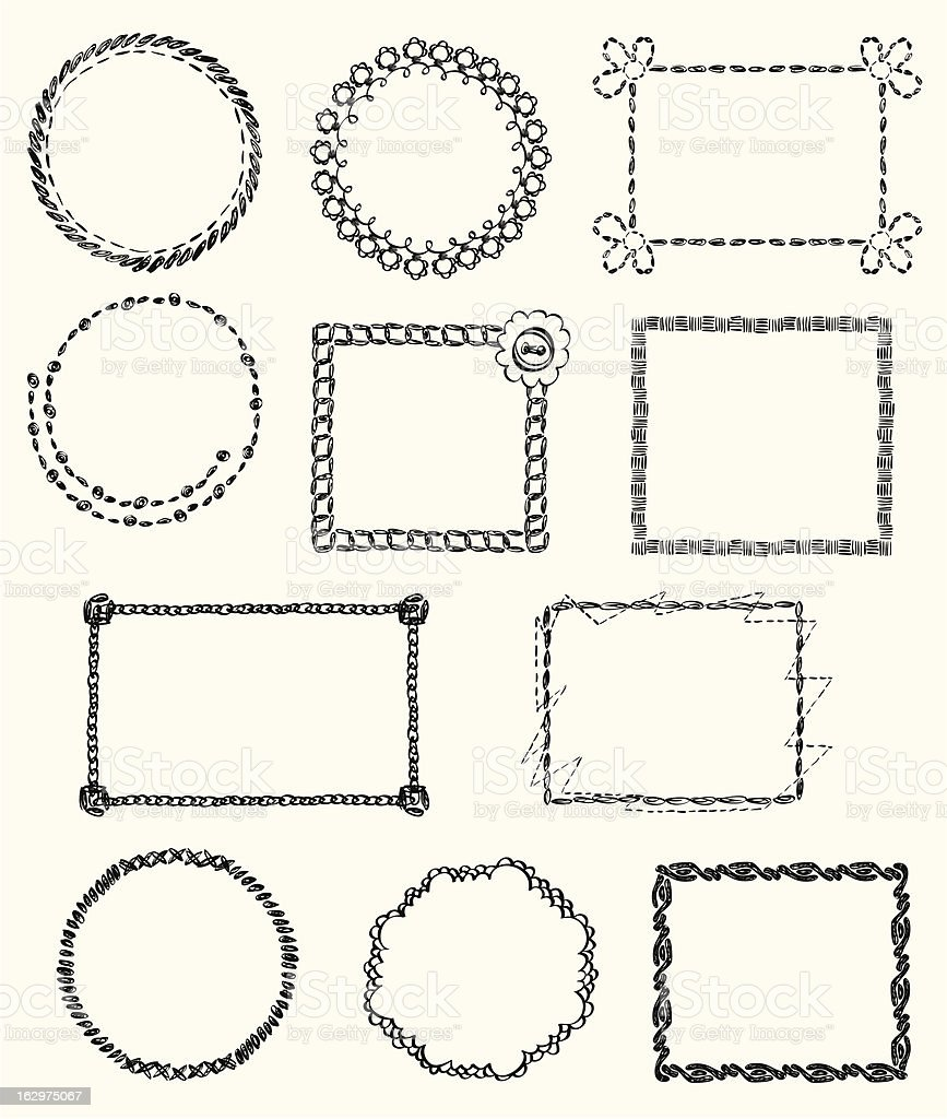knitted Frames royalty-free stock vector art