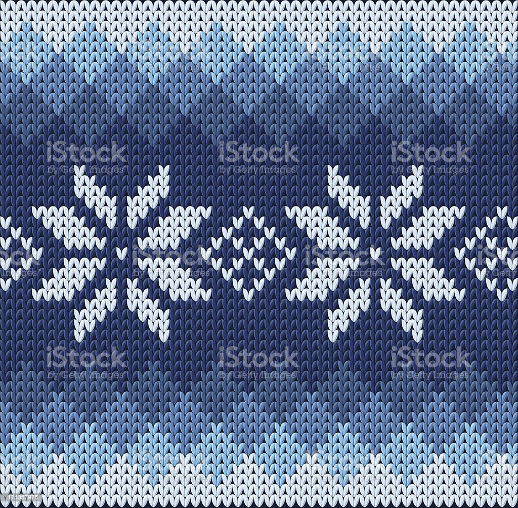 Knitted jacquard pattern royalty-free stock vector art