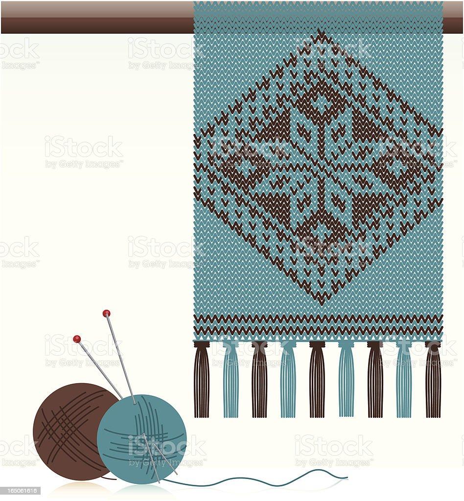 Knitted Scarf vector art illustration