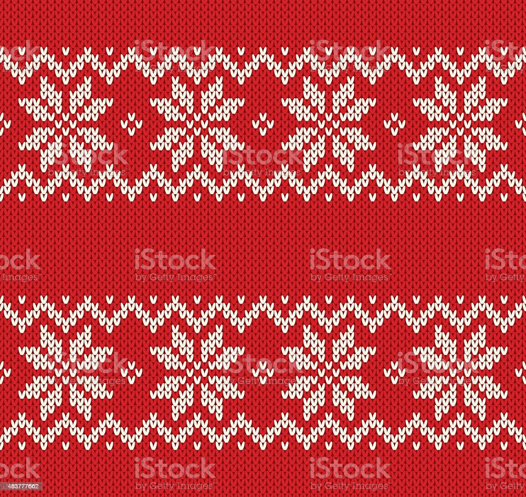 Knitted seamless pattern. vector art illustration
