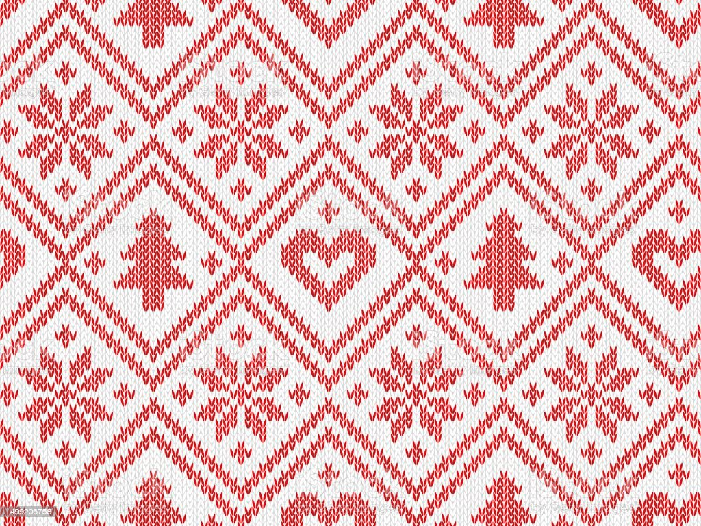 Knitted seamless pattern vector art illustration