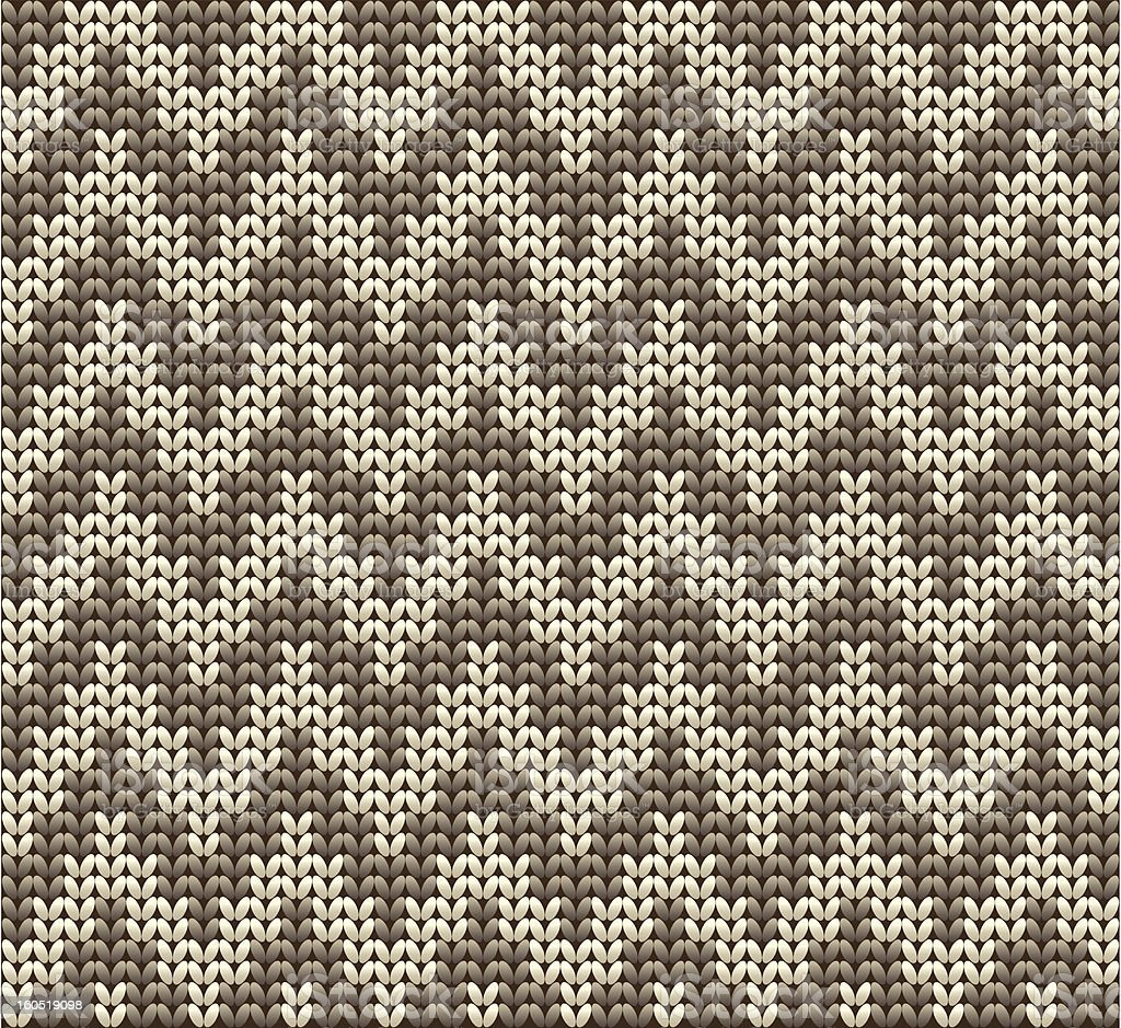 Knitted wool vector background vector art illustration