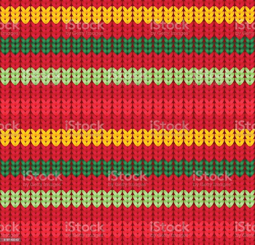 Knitter seamless pattern. vector art illustration