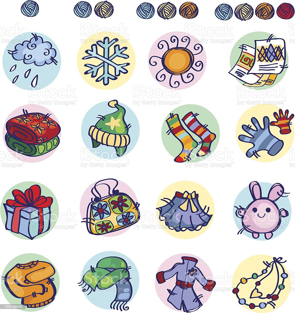 Knitters Icon part2 royalty-free stock vector art