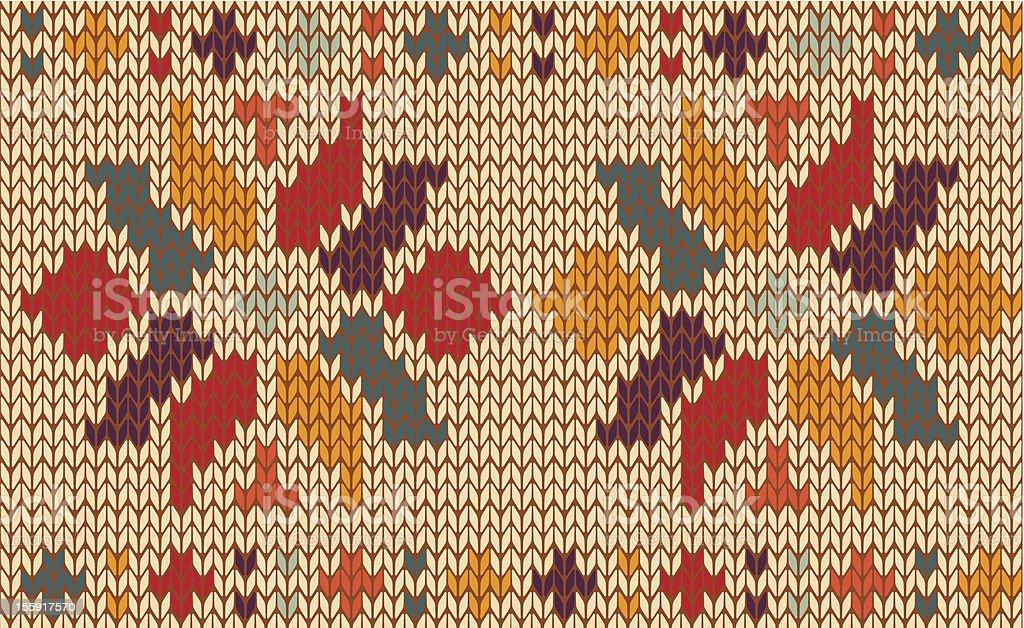 Knitting pattern royalty-free stock vector art