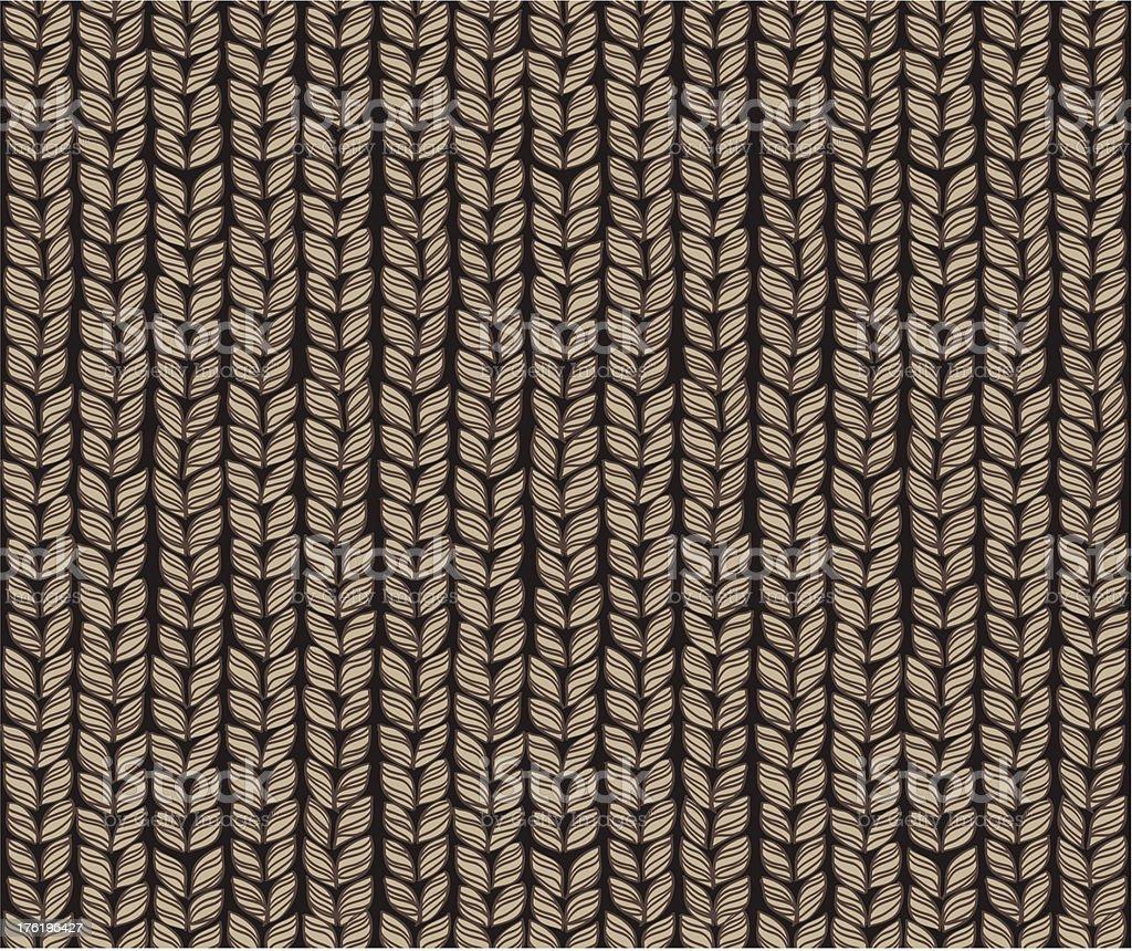 Knitting Pattern vector art illustration