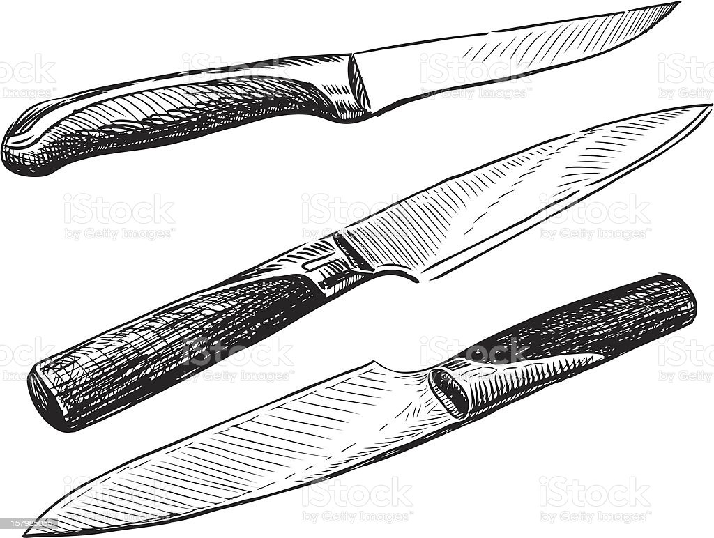 knives vector art illustration