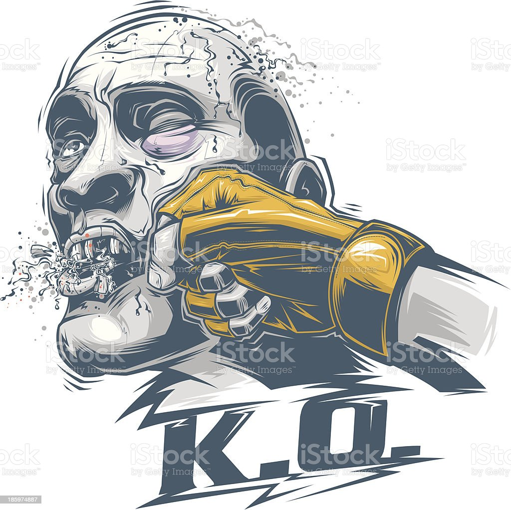 Knock Out vector art illustration