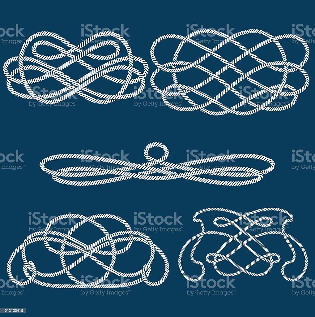 knot vector art illustration