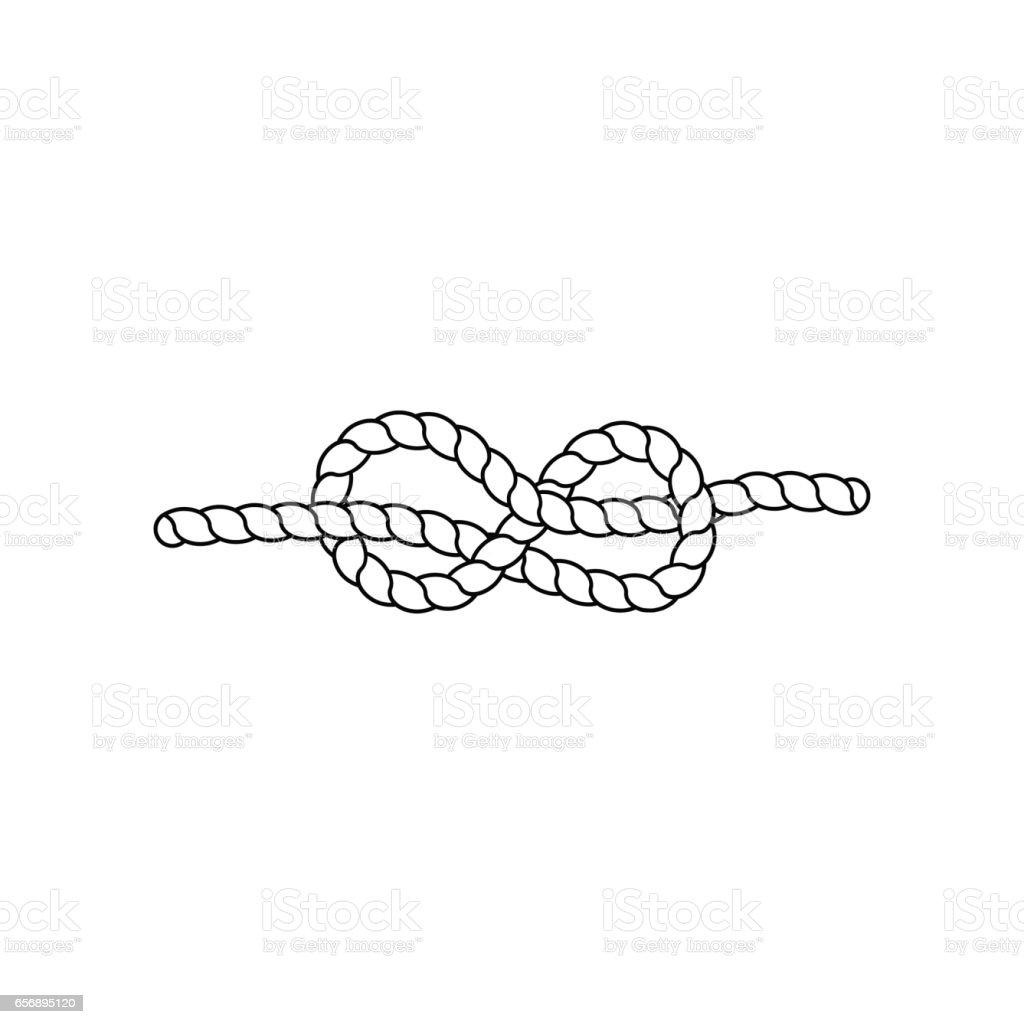Knot. Vector illustration vector art illustration