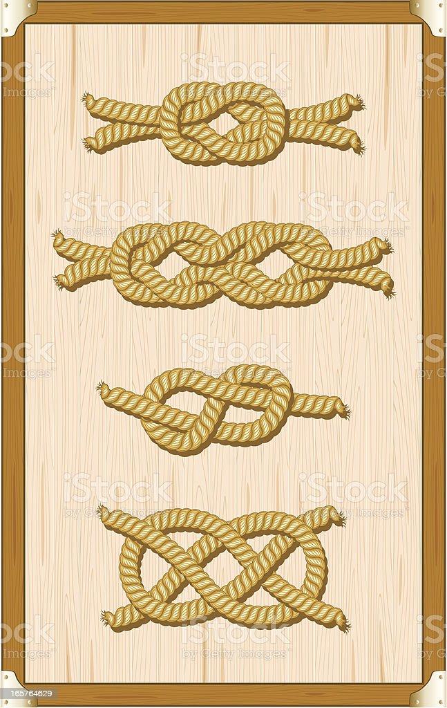 Knots vector art illustration