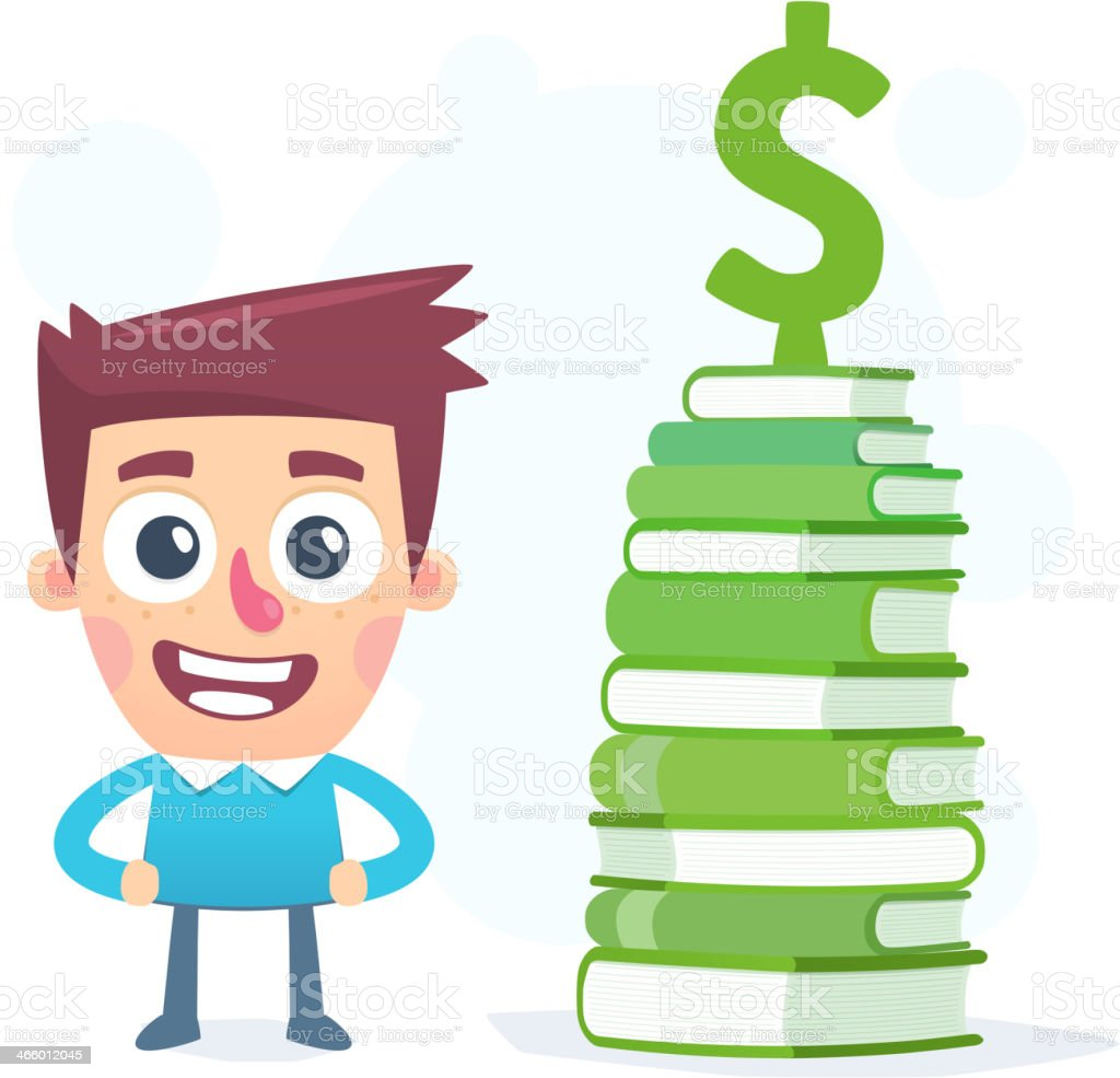 Knowledge about money royalty-free stock vector art