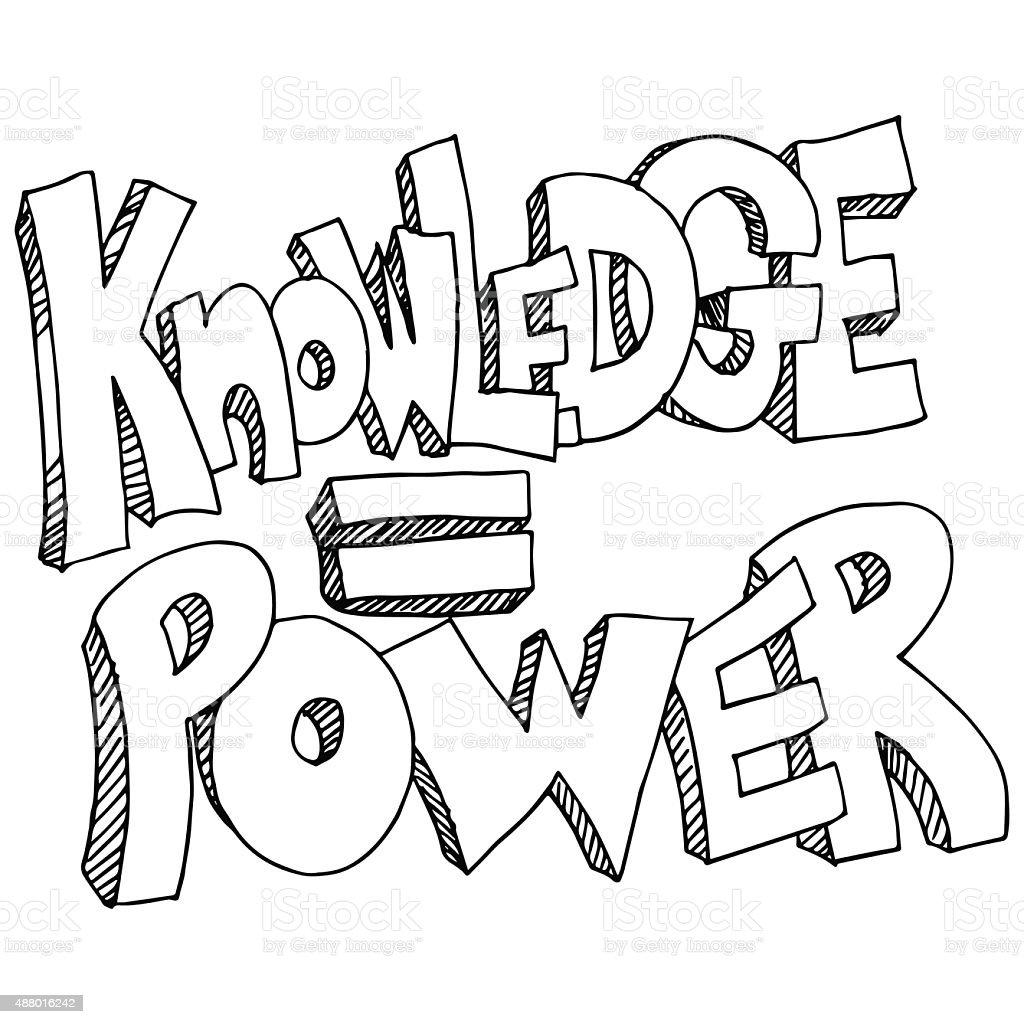 Knowledge Equals Power Background vector art illustration