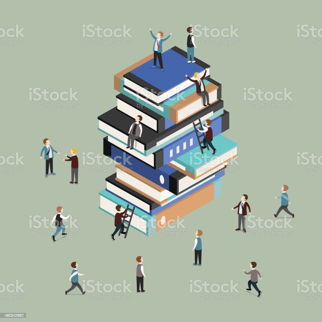 knowledge is power concept vector art illustration