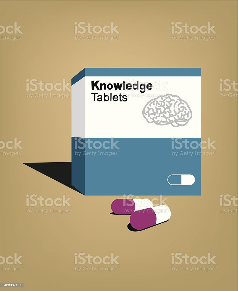 Knowledge pills royalty-free stock vector art