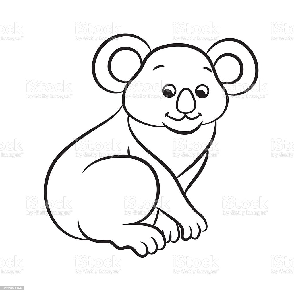 koala bear vector illustration coloring book stock vector art