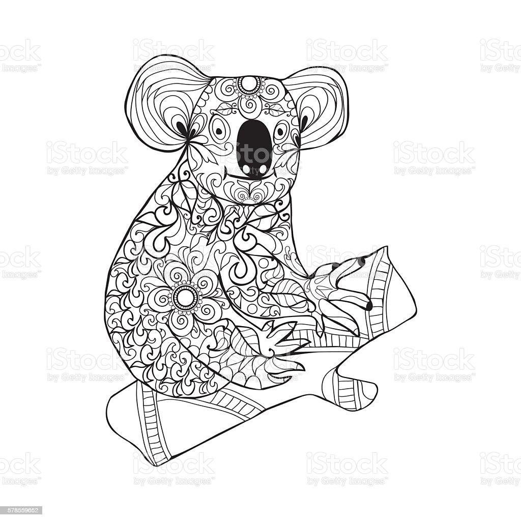 89 Coloring Page Koala Bear