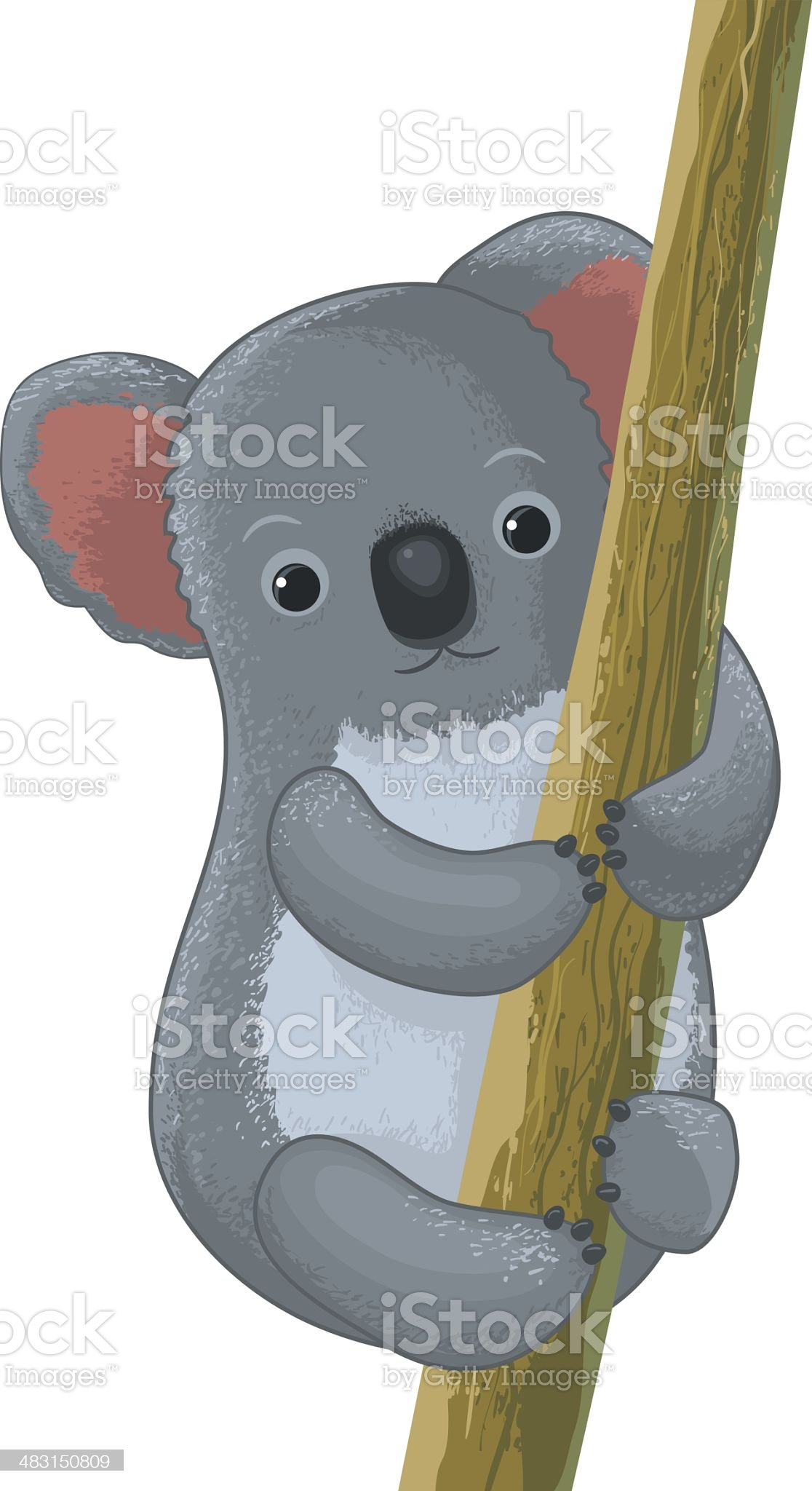 koala cartoon character royalty-free stock vector art