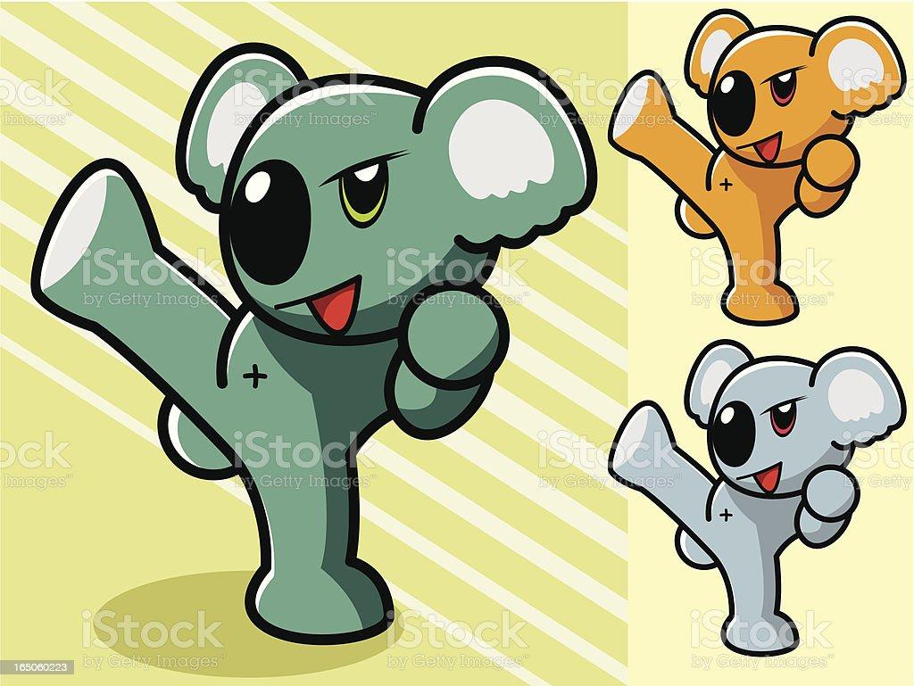 Koala Cartoon royalty-free stock vector art