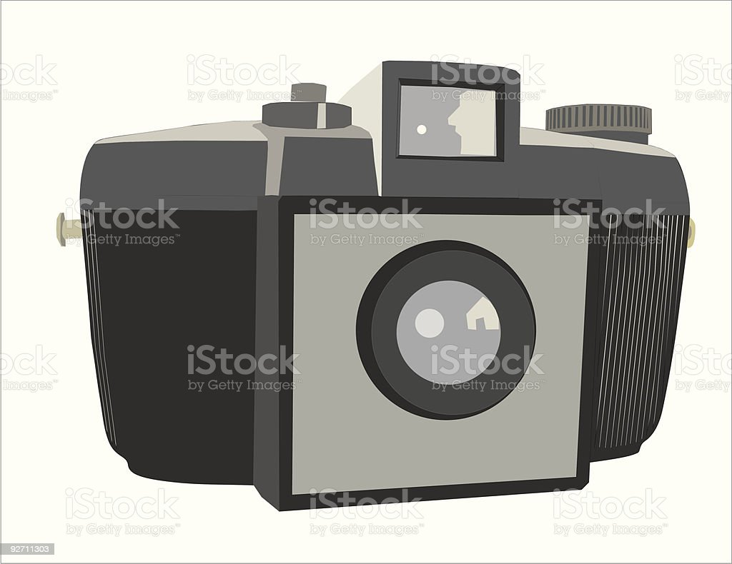 Cámara de fotografia Kodak Brownie vector art illustration