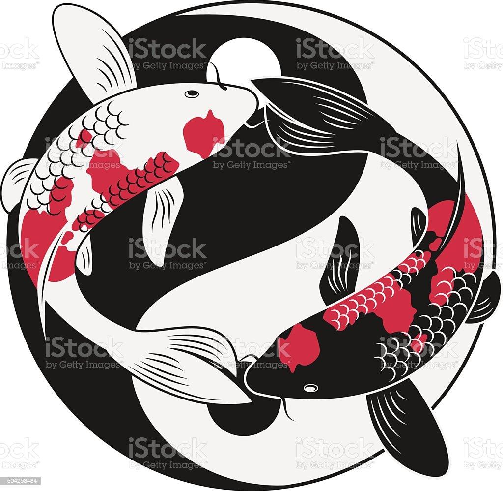 Koi Fish vector art illustration