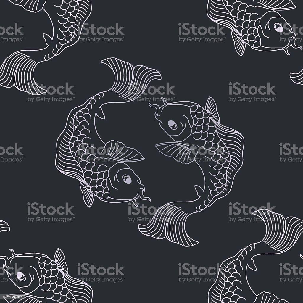Koi pattern vector art illustration
