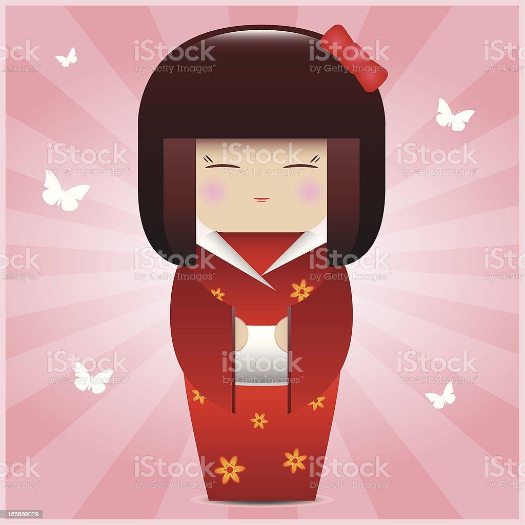 Kokeshi Doll royalty-free stock vector art