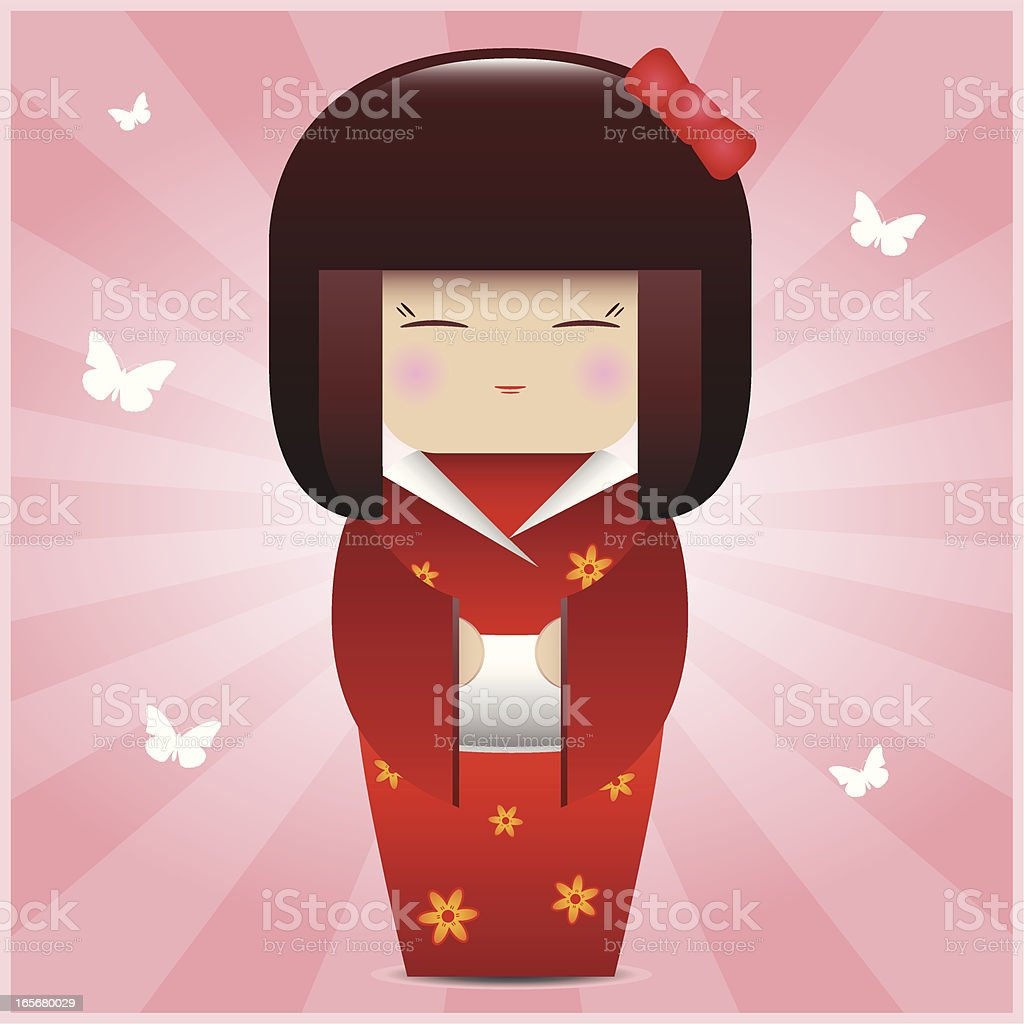 Kokeshi Doll vector art illustration