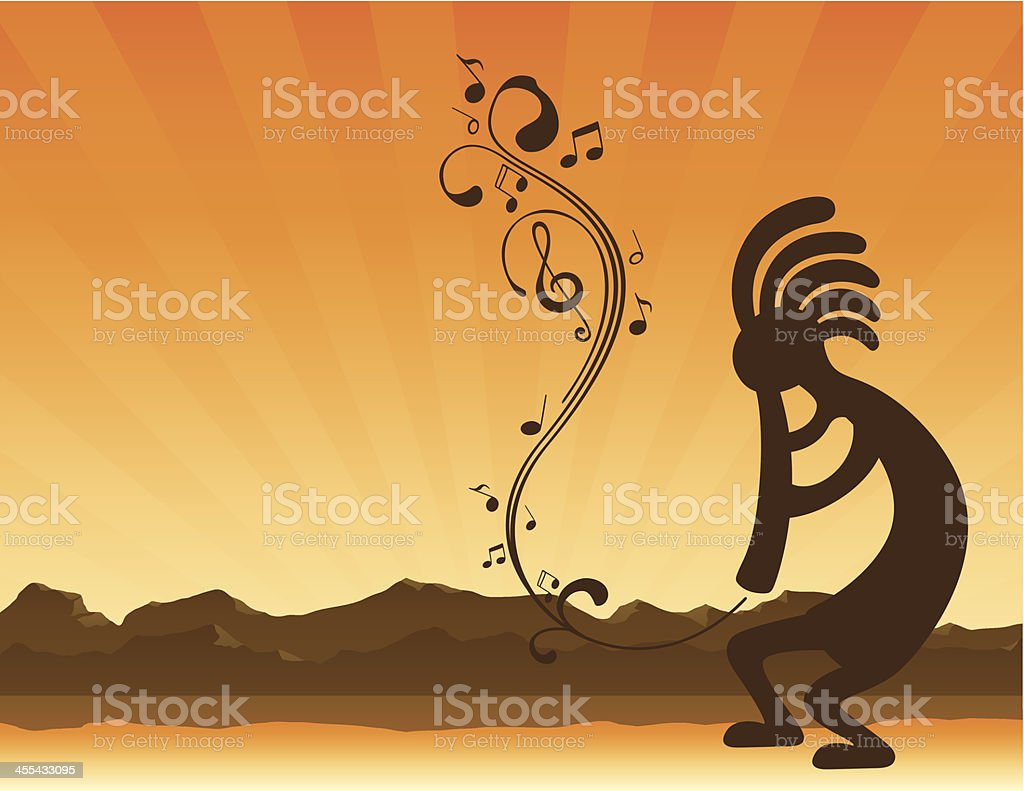Kokopelli in Sedona Arizona royalty-free stock vector art