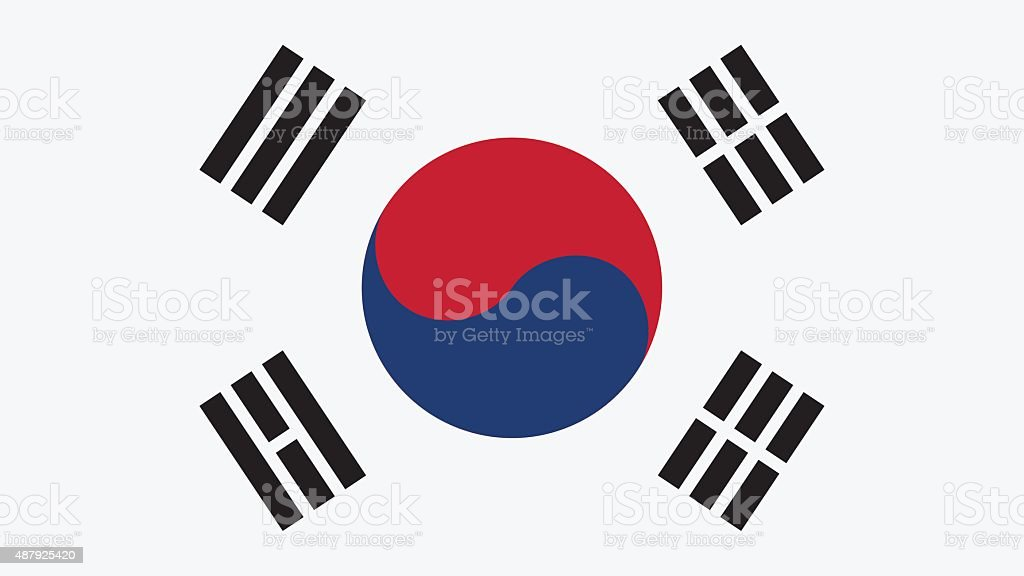 Korea South Flag for Independence Day and infographic Vector ill vector art illustration