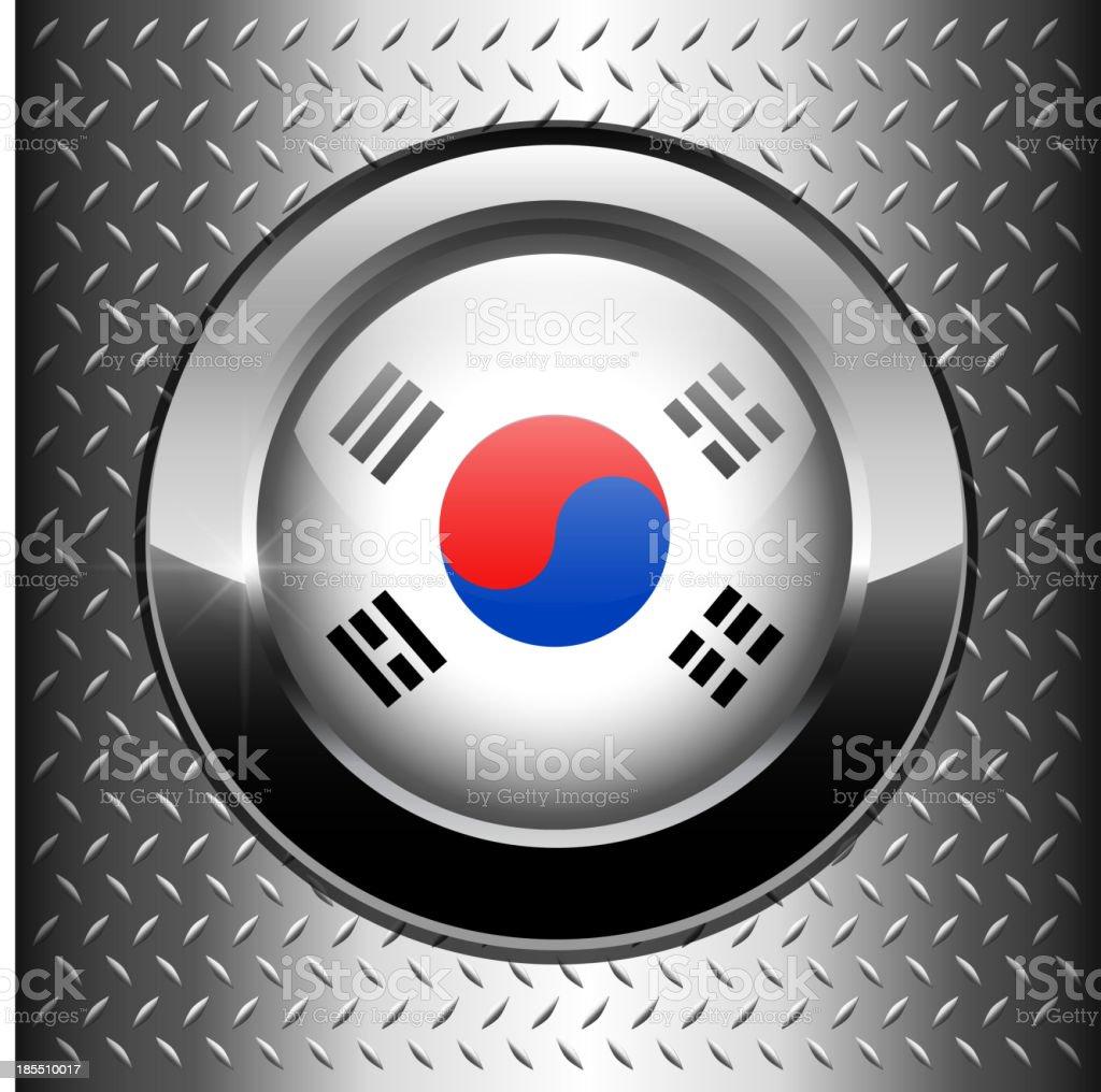 Korean flag button royalty-free stock vector art