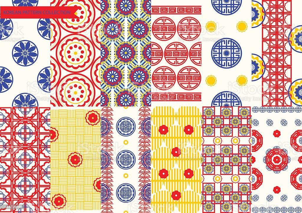 Korean Pattern set vector art illustration