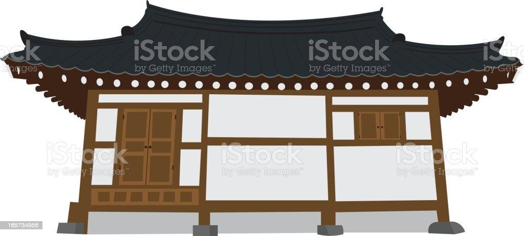 Korean temple royalty-free stock vector art
