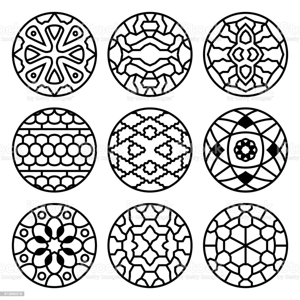 Traditional China Patterns korean traditional vector ancient buddhist patterns ornaments and