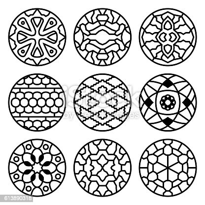Korean Traditional Vector Ancient Buddhist Patterns